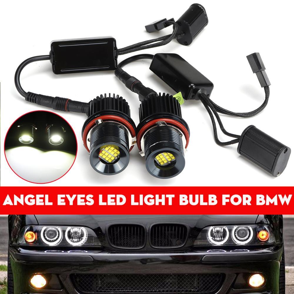 2X 80w White Angle Eyes LED Marker HALO Ring Light Bulb for BMW E39 E53 X5 E60 E61 E63 E64 E65 E66 E83 X3 E87